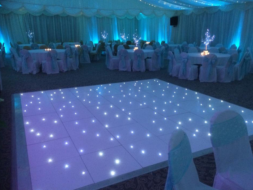 Dance Floor Hire Killarney Tralee Kenmare Wedding LED Sparkle - How to make a lighted dance floor